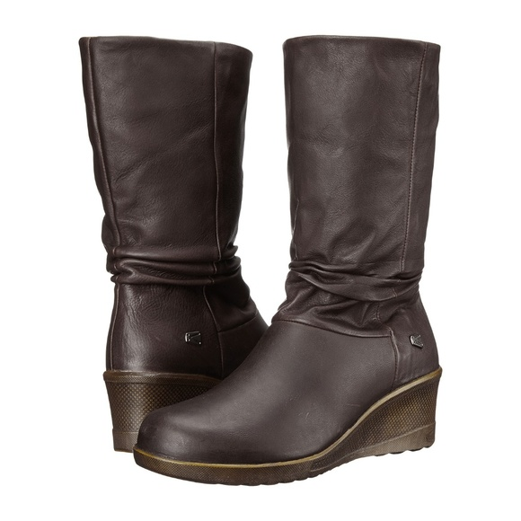 2ec42d328074 NEW KEEN Kate Brown Leather Slouch Boots